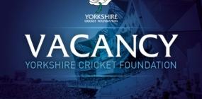 FW: Vacancy: Yorkshire Cricket Foundation - Crick-EAT Officer